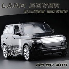 New 1:32 Range Rover Alloy Metal Car Toys Diecast Vehicles Simulation Auto With Pull Back Musical Flashing Kids Christmas Gift