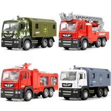 1:50 Pull Back Alloy Car Engineering Truck Model Excavators Cement Concrete Mixer Dumpers Diecasts Toy Vehicles for Boys