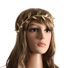 1Set Mommy and Me Gold Silver Leaf Headband Set Peace Olive Branch Girl Cute Leaves Infantil hairband Hair Accessories