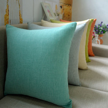 Hot section thick linen simple modern solid color soft pillow office cushions pillow