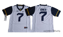Nike 2017 West Virginia Mountaineers Will Grier 7 College Football Jersey - Gold Boxing Jersey Basketballly Jersey(China)