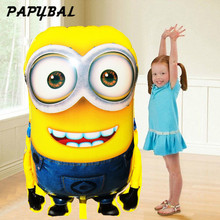 1pcs 92*65cm Ultra Large Size Cartoon Despicable Me 2 Balloon Minions Event Supplies for Boy Girl Kids Birthday Party Decoration(China)