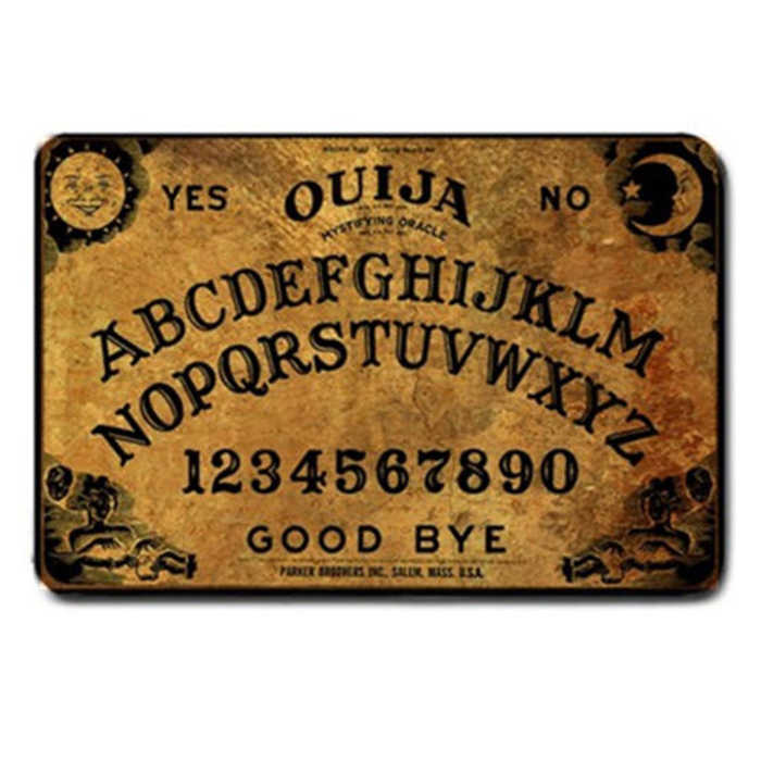 Geek Novelty Funny Ouija Board Game Door Mat Vintage Spirit Board Doormat  Indoor Living Room Kitchen Rug Carpet Home Decor Gifts