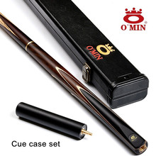 OMIN Brand Custom snooker cue 9.5mm / 10mm cue tips 145cm handmade Ash wood Shaft Billiard pool cues 3/4 Billiards Stick(China)