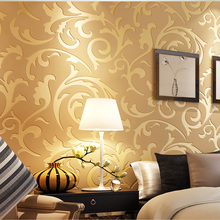 3d wallpaper Embossed Texture Glitter Baroque Damask Featured Vintage Wallpaper Wall Covering Wall Paperadesivo de parede