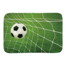 Soccer Goal Doormat Sport Ball Indoor Outdoor Front Door Floor Mat Home Decorative Short Plush Fabric Livingroom Bathroom Mats