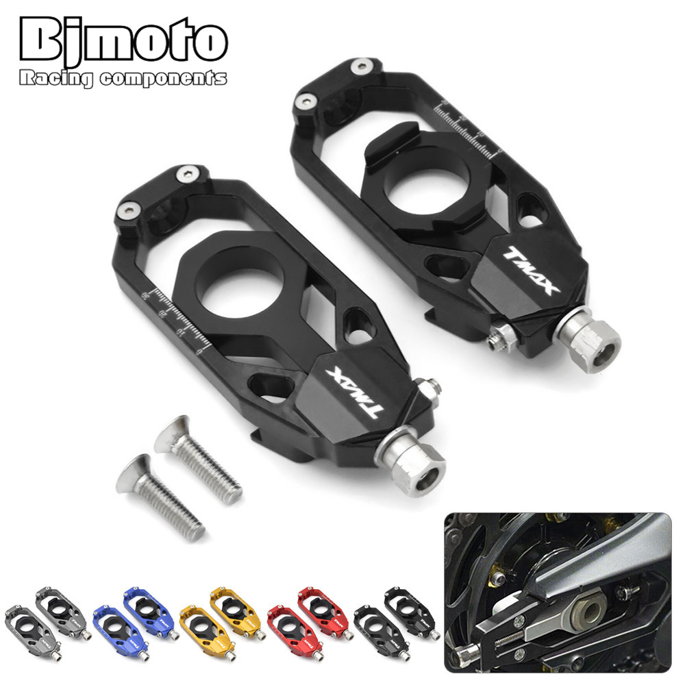 BJMOTO New CNC  Motorcycle Chain Adjusters Tensioners Catena For Yamaha Tmax T MAX T-max 530 2013 2014 2015 2016<br>