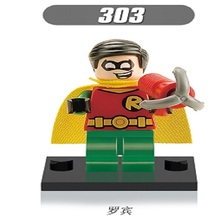 Single Sale Super Heroes Robin Captain America Batman Bricks Building Blocks Collection Toys Children Christmas Gift XH 303 - Minifigures store