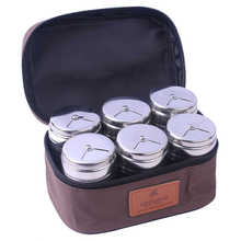6Pcs Stainless Steel Salt Sugar Spice Pepper Shaker Seasoning Cans Bottles for Camping Trip Kitchen Outdoor Cooking BBQ Cookware(China)