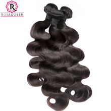 Peruvian Virgin Hair Body Wave 100% Human Hair Bundle 1pc Hair Weave Extension Can Buy 3 or 4 Bundles Rosa Queen Hair Products(China)