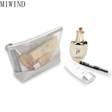 MIWIND  5Pcs /set Fashion Brand Transparent Mesh Cosmetic Bag Women Travel Make up Toiletry Bags Makeup Organizer Case TBA835