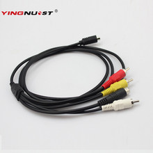 YINGNUOST 1.5M Lead AV Cable 10-Pin DVI DV Connector to 3 RCA S-Video for Sony Handycam Camcorder Digital Camera VMC-15FS Cable(China)
