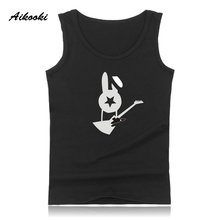 Aikooki New Bi-2 Logo Vest Men Women Casual Sleeveless Cotton Breathable Tank Top Hip Hop Summer Male Female Fashion Vest Tops(China)