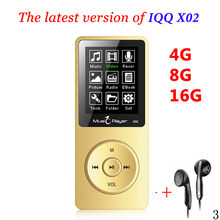 Mini MP3 player 16GB With Built-in Speaker USB MP3 Music Player with speaker mp-3 mp3-player IQQ X02 mp 4 16GB player walkman fm(China)