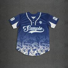 Factory sale customized 2 buttons style polyester baseball jersey