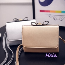 Free shipping, 2017 new han edition small package, fashion bowknot woman bag, golden tide handbags, silver woman messenger bags.