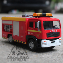 eti 1:32 metal car models kids toys Waterwheel ambulance 119 Fire truck Children like the gift music back to function light(China)