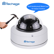 Techage H.265 4.0MP 2592*1520 VandalProof Anti-vandal POE IP Camera Indoor Outdoor Metal Case IP66 ONVIF P2P Dome CCTV HD Camera