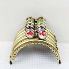 20 pcs 8.5CM Time Gem Flat Bead Cute Girl Kiss Clasp Bronze Smooth Coin Purse Metal Frames Cluth DIY Sewing Bag Accessories(China)