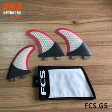Brand new Fiberglass honeycomb surfboard FCS G5 fin with half carbon fin for surfing and paddling with bag