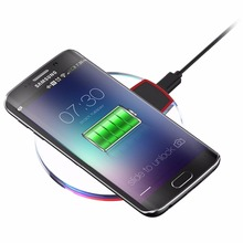 5V 2A Crystal Charging Pad Qi Wireless Charger Receiver for Samsung S7 Edge S6 iPhone 6 7 Universal Smartphone with QI System(China)