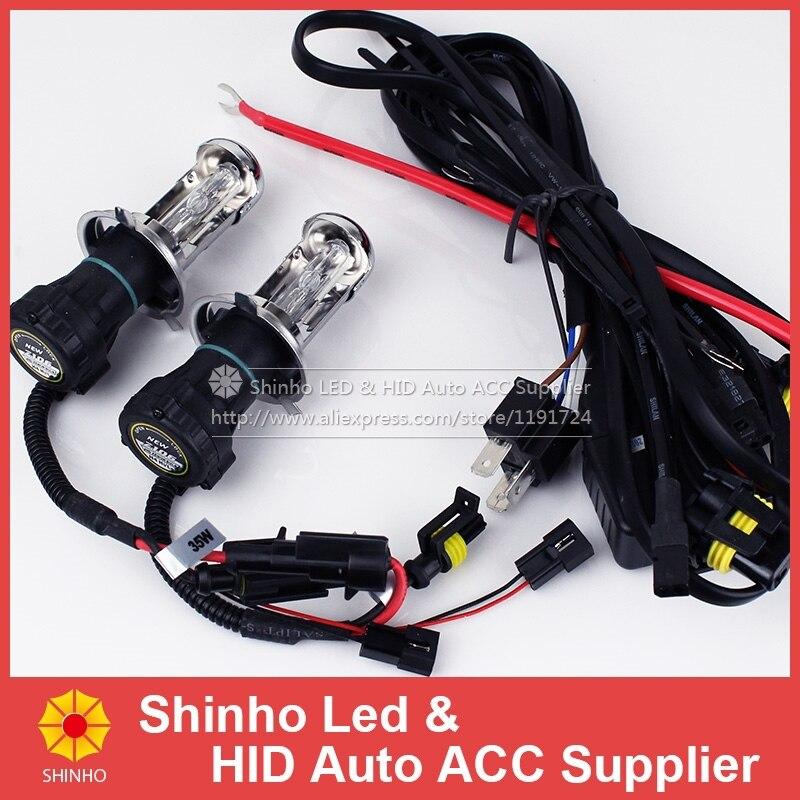 2X 35W 12V AC 4300K 6000K 8000K Car Auto H4-3 Bi Xenon Light H4 Hi/Lo Beam HID Bulbs Bi-Xenon H4 For Car Headlight Free Shipping<br><br>Aliexpress