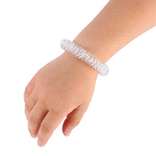 1 Pcs Stainless Steel Wrist Hand Massage Ring Acupuncture Bracelet Wrist Massager Supplies Relaxation Health Care Tool