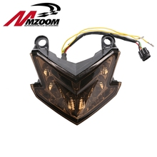 Mzoom Smoke Red white Integrated Motorcycle LED Tail Light Signal FOR Kawasaki Ninja ZX6R 636 Z800