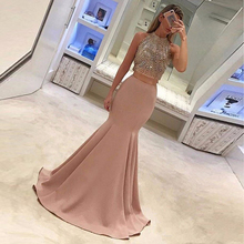 Graceful Mermaid Long Skirt Blush Pink Invisible Zipper Fashion Party Skirt Custom Made American Apparel 2017 Prom Skirt(China)