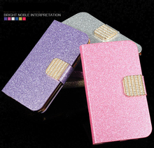 "Buy Alcatel U5 Case 5.0"" Luxury Girly Bling Wallet PU Leather Back Cover Phone Case Alcatel U5 5047D 5047Y Case Flip Protective for $2.60 in AliExpress store"