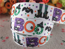 "New arrival 7/8"" (22mm) printed grosgrain ribbons halloween ribbon hair accessories 10 yards WQ14090813(China)"