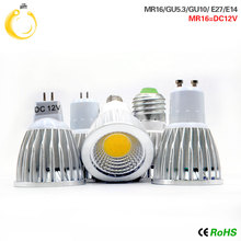 85-265V LED COB Spotlight E14 E27 GU10 Dimmable 9W 12W 15W Spot Light Bulb GU5.3 220V high power led lamp MR16 DC 12V LED BULB