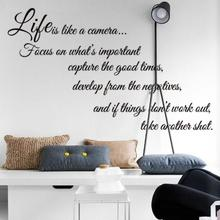 Life Is Like A Camera Monster Wall Paper Decals Removable vintage kitchen Wall Sticker Home decoration