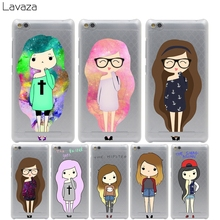 Lavaza Lovely girl with long hair Cover Case for Xiaomi Redmi Note 2 3 4 Pro Prime 4A 4X 3S Mi 5 5S 6 Plus mi6 mi5 S mi5s  Cases