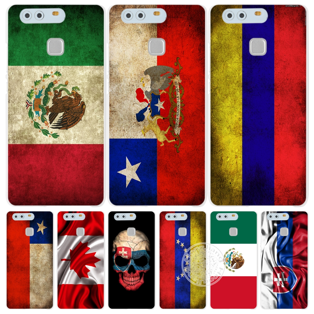 slovak mexico canada chile colombia flag Cover phone Case for huawei Ascend P7 P8 P9 P10 lite plus G8 G7 honor 5C 2017 mate 8(China (Mainland))