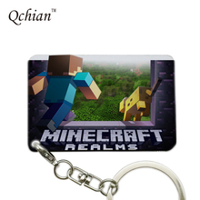 Hot Game Minecraft Series Printed Car Keychain or HandBag Ornaments Pendant Keyring Pretty Nice Gift Pictures can be Customized
