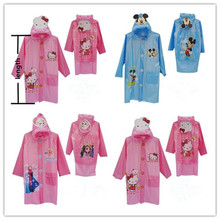 Hello Kitty Mickey Mouse Pink and Blue Color Raincoast for children, Rainwear for boys and girls(China)