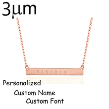 Duoying Custom Delicate Engraved Name Bar Charm Necklace for Couple Gifts Supply for Etsy Amazon