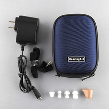 New Rechargeable Digital Mini In Ear Hearing Aid Adjustable Sound Amplifier BOX Audiphone Acouophone