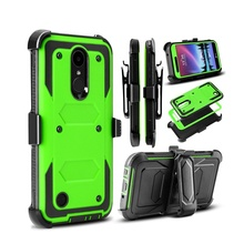 YUMQUA Cover Case For LG K20 Plus Hybrid Protection Case Cover for lg k10 2017 G lv5 Heavy Duty Shockproof Rugged with Belt Clip(China)