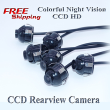 Free shiping CCD HD 360 degree car rear view camera front view side view reversing backup rearview
