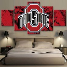 HD print 5 pcs Canvas art block ohio state Football Sport painting on canvas modern home decor Wall Art painting Picture /PT0708