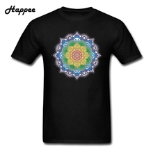 XS-XXXL Magic Mandala Men T-Shirts 100% Cotton Top Men's Short Sleeve Mandala Camisetas For Male Brand T Shirts Clothing(China)