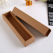 Kraft Paper Drawer Type Macaron Box White paperboard tranparent PVC Window Macaron Chocolate packaging boxes(China)