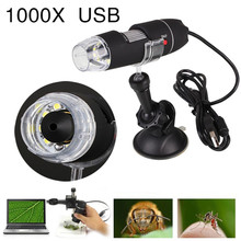 Portable USB Microscope Light Electric Handheld Microscopes Suction Tool 1000X 8 LED Digital Endoscope Camera Microscopio(China)