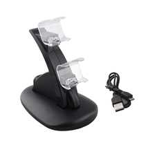 Buy Double Gamepad Charging Dock Game Controller Charger Dual USB Charge Dock Stand Sony Play station 4 PS4 Controller for $4.59 in AliExpress store