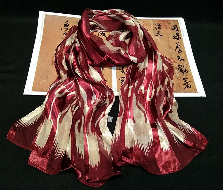 Small Square Scarves Fashion Girls Scarves Decorative Scarf Heart Rose Red Brim