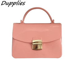 Dupplies Candy Color Handbag Women Chain Small Women Messenger Bag Ladies Crossbody Shoulder Bags Girls Mini Flap Jelly Bag