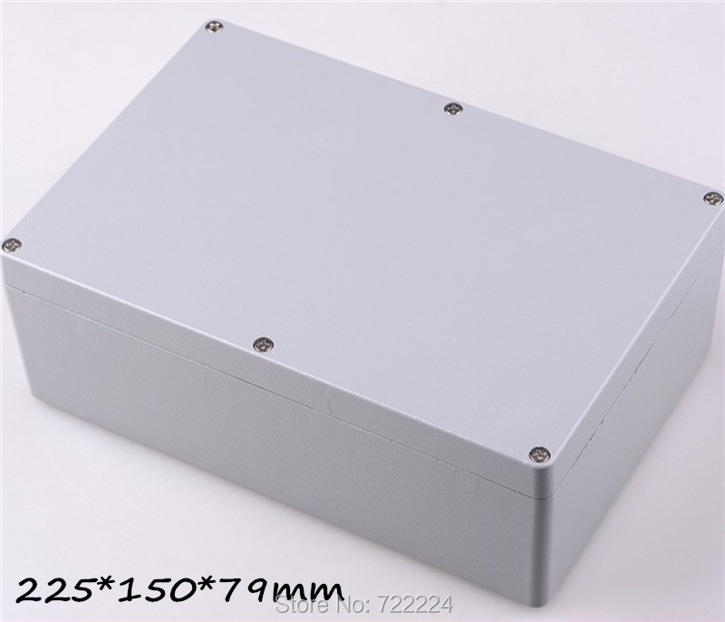 1 pcs 225*150*79mm IP68 aluminum waterproof enclosure DIY junction box outdoor metal box for electronic housing project box<br>