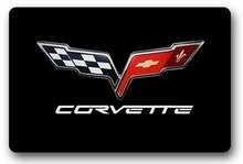 Memory Home Corvette Logo Custom Indoor Door Mat Washable Doormat Floor Bathroom Mats Entrance Mats Non Slip Kitchen Rugs